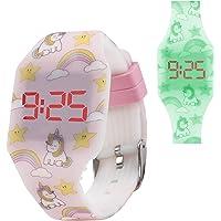 Orologio digitale a LED KIDDUS per bambini, ragazze, adulti. Cinturino comodo in morbido silicone. Batteria giapponese…