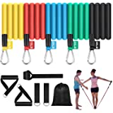 TheFitLife Exercise and Resistance Bands Set - Workout Tubes ...