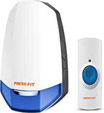 Press Fit Echo-V Auto-Learning Wireless Bell (Plug-In) (Blue)