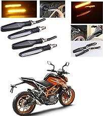 AutoStark Motorcycle Amber LED Turn Signal Indicators Light Lamp Regal Raptor 4Pcs KTM Duke 390