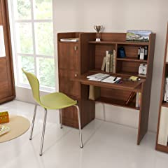 Spacewood Winner Study Table  Walnut Rigato