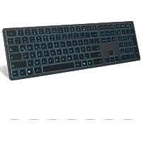 Jelly Comb Bluetooth Beleuchtete Funktastatur, Kabellose Wiederaufladbare Ultraslim Fullsize Tastatur, QWERTZ Deutsches…