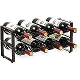 LC&TEAM Wijnrek, 8 flessen, wijnrek, stapelbaar, metaal, wijnflessenhouder, wijnflessen, rek, wijnstandaard, 42,7 x 17 x 20 c