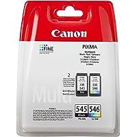 Canon PG-545 + CL-546, Cartuccia d'inchiostro originale multipack nero e tricolore per stampante a getto d'inchiostro…