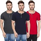 London Hills Men's Regular Fit T-Shirt(Pack of 3)