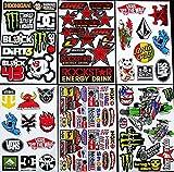 6 bogen Aufkleber selbstklebend Stickers rockstar energy drink BMX moto-cross decals Abziehbilder MX 6CB/