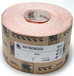 Indasa Rhynalox Sandpaper Roll 115 mm x 50 m P40 P400 1 Piece