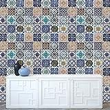 Walplus(TM) Entfernbarer Wand Sticker Mosaik Kachel Muster x 12er pack - Wohndeko, 216cm x 162cm, Multi - Farbe