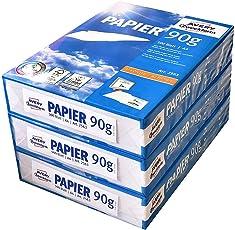 Avery Zweckform 2563 Druckerpapier, Kopierpapier, DIN A4 Papier, 90 g/m², 3 Pack (1.500 Blatt) alle Drucker, weiß