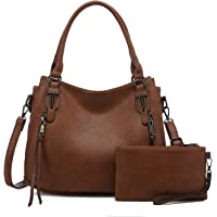 Realer Damen Handtaschen Mittel Shopper Lederhandtasche Schultertasche Umhängetasche Geldbörse Hobo Damen Taschen Set…