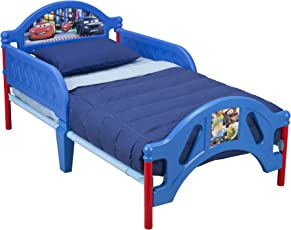 Disney Plastic and Metal Car Bed and Bedding Value Bundle for Unisex Kids (Age 15 Months and Above) - 142.2x76.2x66cm