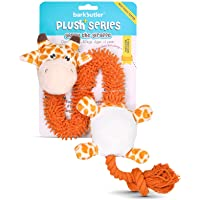 Barkbutler Garry The Giraffe Soft Squeaky Plush Dog Toy, Orange | for Small - Large Dogs (5-30kgs) | Machine Washable…