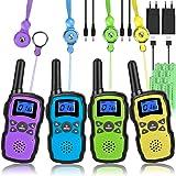 Wishouse Walkie Talkie Niños Bateria Recargable con 2 Cargadores USB, Adultos Walky Talky 4 Piezas Largo Alcance, Cámping Jue