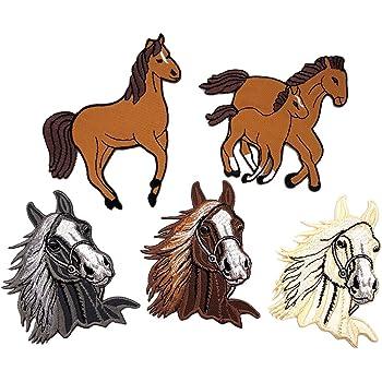 Lumanuby 1x Pferd Patches f/ür Herren T-Shirt//Jacken Stickerei Applikationen Aufn/äher von Horse Form Aufn/äher Serie size 9*10cm