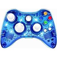PAWHITS Manette Xbox 360 sans Fil Gamepad Contrôleur de Jeu avec Double Vibration (Bleu)