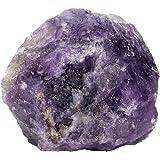 CrystalTears 1 Pezzo di Cristallo Ametista Grezza Curativa al Quarzo Grezzo per Avvolgere Il Filo, lucidare, lucidare, Tumbli