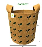 OXYPOT Geo Fabric Grow Bags for Indoor & Outdoor Gardening || Size - 10 x 10 Inches || Made with 350 GSM Agriculture…