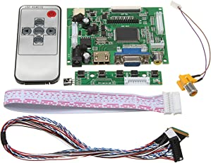 Rishil World LCD Controller Board DIY Assembly Kit for 1366x768 15.6 inch LP156WH4(TL)(A1) LED Screen