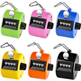 Ktrio Pack of 6 Color Hand Tally Counter 4 Digit Tally Counter Mechanical Palm Click Counter Count Clicker Hand Held Counter