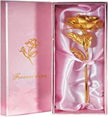 billionBAG 24K Small Gold Rose bb2 With Gift Box - Best Gift For Loves Ones, Valentine's Day, Mother's Day, Anniversary, Birthday