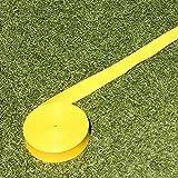 Markierband zur Spielfeldmarkierung, 12 m, gelb, für Fußballtraining