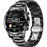 LIGE Montre Connectée Homme,1.4'' Smartwatch Bluetooth 4.0 Sport Etanche IP67 avec Podometre Cardiofrequencemètre Contrôle de