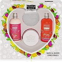 Bryan & Candy New York Strawberry Diwali Gift Set For Women Combo Heart Kit, Shower gel, Hand & body Lotion, Body Polish…