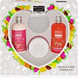 Bryan & Candy New York Strawberry Diwali Gift Set For Women Combo Heart Kit, Shower gel, Hand & body Lotion, Body Polish, Loo