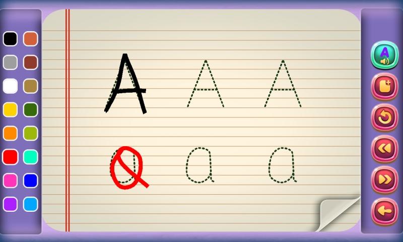 Lernen ABC und 123 zu schreiben : lernen Alphabet und Zahlen zu schreiben ! Lernspiel für Kinder KOSTENLOS - 6