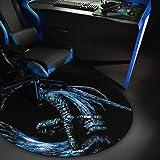 Woxter Stinger Floorpad Blue - Alfombrilla Gaming de Suelo, Tapete Protector para Suelo - Resistente al Agua, Lavable, 100% M