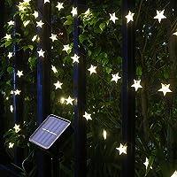 Solar String Lights, 36Ft 60 LED Solar Star String Lights Warm White Solar Powered Fairy Lights Outdoor 8 Modes…