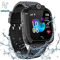 Kids GPS Smart Watch Waterproof, Smartwatch GPS Tracker with Kids SOS Cell Phone ...