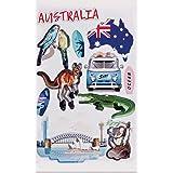 Erreinge X2 Aufkleber Australien Känguru Geschenk Shaped Adhesive Pvc Für Abziehbild Tapete Auto Moto Helm Camper Laptop 10 Cm Auto