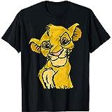 Disney Lion King Young Simba Smiling Portrait Sketch T-Shirt