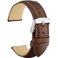 WOCCI Cinturini Orologi Vintage in Pelle con Fibbia in Argento Inossidabile, Cinturino di Ricambio 14mm 16mm 18mm 19mm…