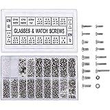 Yosoo 1000 stuks roestvrijstalen brillen horloge reparatie schroef vervanging kit set kleine schroeven moeren assortiment rep