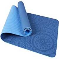 TOMSHOO Tappetino Yoga Antiscivolo TPE Tappetino per Pilates Fitness Ecologico con Borsa per Body Building Pilates 183…