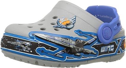 crocs Kids Unisex Lights Starwarsxwing Multi Clogs and Mules