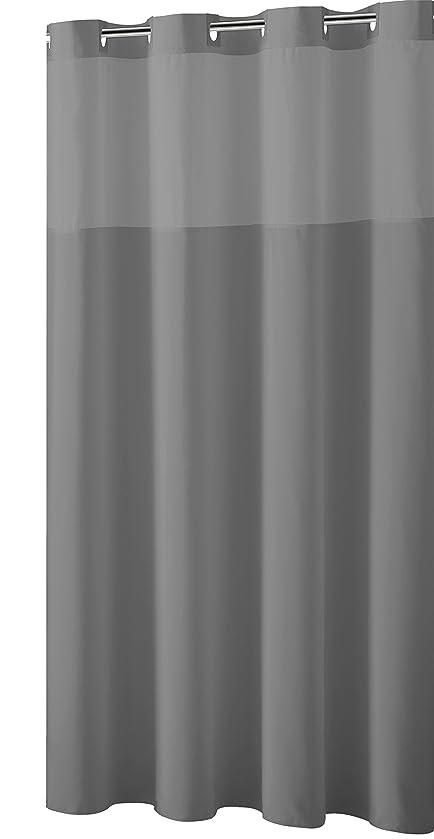 amazonde duschvorhang mystery ez on stoff vorhang fr die dusche grau - Stoff Vorhang Dusche
