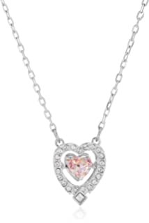 Swarovski Sparkling Dance Heart Halskette für Frauen, weißes