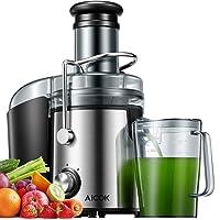 Extracteur de Jus AICOK 800W Centrifugeuse Fruits et Légumes75MM Large Bouche avec 2 Vitesses et Anti-goutte,Acier…