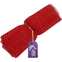 Asian Hobby Crafts Flower Mesh Net for Bouquet Decor, Gift Wrapping, Party Hall Decor, Red (9 Yards)