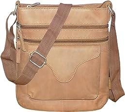 Style98 Tan Hunter Leather Travel Hard Disk Bag for Men,Boys,Girls & Women