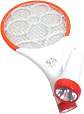 Generic Aastha 2 in 1 Rechargeable Mosquito/Insect Racket Bat with Detachable LED Torch (Multicolour, Mf007)