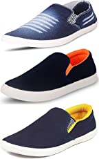 Maddy Men's Synthetic Loafers - Pack of 3