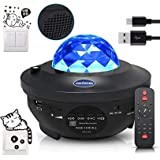 Night Light Baby Star Projector, 10 Color Bluetooth night Lamp with Timer Remote and Chargeable, Dimmable Combinations Romant