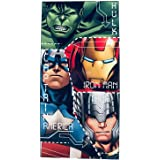 Various Toalla de Playa Infantil con Licencia Oficial Disney (Avengers Superheroes)