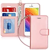 Fyy iPhone SE Case, iPhone 5S Case, iPhone 5 Case, [Top-Notch Series] Premium PU Leather Wallet Case Protective Cover for App