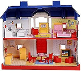 Electrobot My Country Doll House Playset With Living Room ,Bed Room, Bath Room, Dining Room 24 Pieces