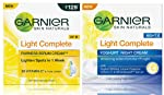 Garnier Light Complete Fairness Serum Cream, 45g and Garnier Skin Naturals, Light Complete Night Cream, 40gm